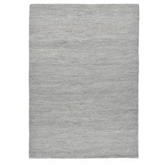 Handgefertigter Teppich Taza aus Wolle in Grau