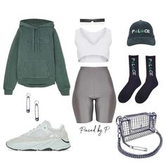 Adidas Yeezy Boost 700 'Salt' His and Hers Cute Swag Outfits, Chill Outfits, Sport Outfits, Trendy Outfits, Fashion Outfits, Green Outfits, Model Outfits, Errands Outfit, Yeezy Outfit