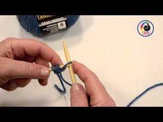 Aprende a tejer con LANAS STOP.  Montaje de puntos con 2 agujas