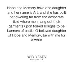 in memory of w.b. yeats essay Notes by olivia highwood a background of eva gore-booth and constance markiewicz for more information on the sisters, see the page on 'yeats' women.