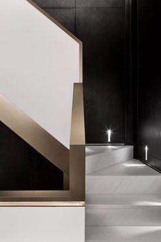 Interior Staircase, Interior Architecture, Interior Design, Zaha Hadid, Stairs, Mirror, Furniture, Staircases, Home Decor