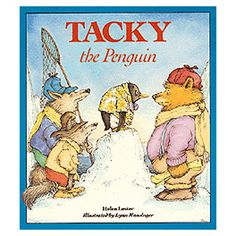 Tacky's perfect friends find him annoying until his odd behavior saves the day.