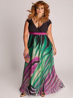 Pasazz.net Favorite -  Rainforest Paradise Plus Size Maxi Dress by IGIGI
