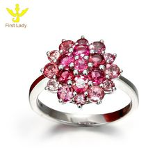 Luxury Simple 18K Solid White Gold Natural Pink Tourmaline Rings Jewellery, View Jewellery, First Lady Product Details from Guangzhou First Lady Jewelry Co., Ltd. on Alibaba.com