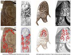Medusa nu are nici o legătură cu civilizaţia geto-dacică, însă cultul Marii Zeiţe îşi are originea în neoliticul Vechii Europe. Două coarde de viţă de vie, opuse şi dispuse în oglindă, încadrează chipul Marii Zeiţe. Coardele se ramifică la intervale mai mult sau mai puţin regulate, într-o reprezentare vegetală a nemuririi, întâlnită în exces în civilizaţia traco-geto-dacică.