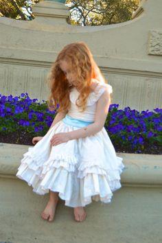 Lily Mae Swooping Ruffle Girls Dress PDF Sewing Pattern