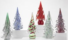 Glass Trees from Murano, Italy