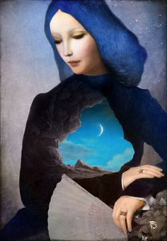 """""""Lady Midnight"""" Digital Art von Christian  Schloe jetzt als Poster, Kunstdruck oder Grußkarte kaufen.."""