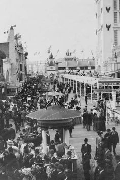 Coney Island Dreamland Midway 1900s 4x6 Reprint Of Old Photo