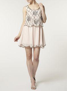 Foto 2 von Hautfarbenes 2-in-1-Kleid mit Gänseblümchen von Lola Skye