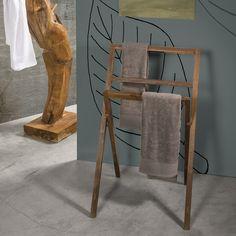 Znalezione obrazy dla zapytania stojak na ręczniki łazienkowe drewniany