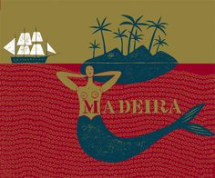 """""""Madeira, an old wine with a big heart"""", Jean-Manuel Duvivier illustration for the Wall Street Journal www.jmduvivier.com"""
