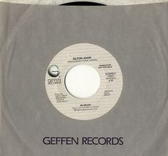 Elton John In Neon US Promo vinyl single inch record)