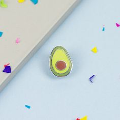 Avocado Enamel Pin // Food pin lapel pin hard enamel by Punkypins
