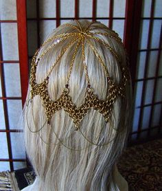Chain-mail Headdress...