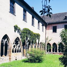 Colmar, France - Unterlinden Museum, inner courtyard and former cloister