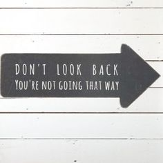 Don't Look Back Wall Decor