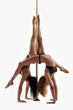 Justin Tran Photography Models: Tanya Watts & Malinda Yep — with Malinda Yep and Tanya Watts at Pole Dance Academy.