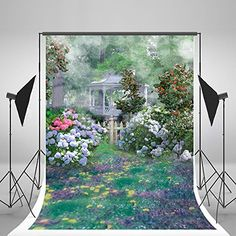 Spring Backdrops Garden Floral Flowers Photography Background For Stduio Party Event Spring Photos, Natural Scenery, Background For Photography, Photo Backgrounds, Floral Flowers, Backdrops, Pavilion, Garden, Party