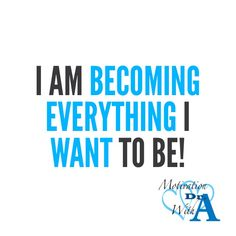 Affirmation of the day!