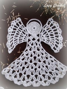 Crochet angel.  Link to free crochet pattern