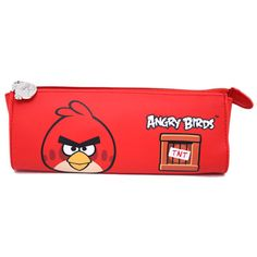 Angry Birds Pencil Case Cosmetic Pouch Bag - RED BIRD