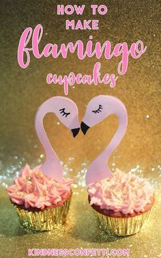 Learn how to make these adorable and delicious pink flamingo cupcakes, they are so sparkly! Download the flamingo cupcake toppers for FREE! Cupcake Recipe, Simple Cupcakes, Cupcake Decorating, Cupcake Recipe, Cupcake Toppers, Flamingo Cupcake Topper, Flamingo Party, How to Decorate Cupcakes, How to Make Cupcakes From Scratch, Vanilla Cupcakes, DIY Cupcake Toppers, Free Cupcake Toppers