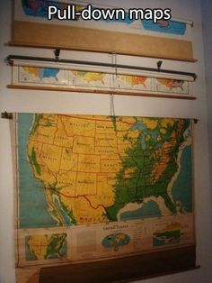Knowing the lesson was going to get serious whenever your teacher pulled down the maps: | 38 Things You Did In Elementary School That You've Completely Forgotten About