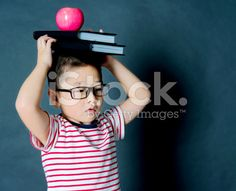 Asian boy with books royalty-free stock photo