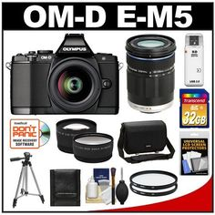 Olympus OM-D E-M5 Micro 4/3 Digital Camera & 12-50mm Lens (Black/Black) with M.Zuiko 40-150mm Lens + 32GB Card + Case + Filters + Tripod + Telephoto & Wide-Angle Lens Kit by Olympus. $1329.95. Kit includes:♦ 1) Olympus OM-D E-M5 Micro 4/3 Digital Camera & 12-50mm Lens (Black)♦ 2) Olympus M.Zuiko 40-150mm ED Digital Zoom Lens (Black)♦ 3) Olympus Camera Messenger Case♦ 4) Transcend 32GB SecureDigital Class 10 (SDHC) Card♦ 5) Vivitar 52mm UV Glass Filter♦ ...
