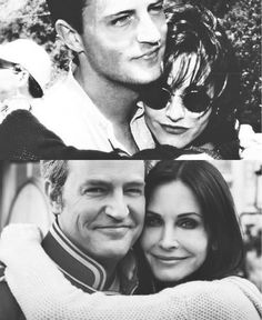 Matthew Perry and Courtney Cox then and now
