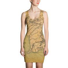 Middle earth map fabric by implexity on spoonflower custom fabric middle earth map dress map costume lord of the rings dress atlas dress gumiabroncs Images