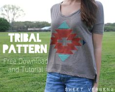 Tribal Pattern Stenciling DIY. Use as inspiration for your own designs!
