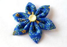 Bold Colors Vintage Royal Blue Floral Hair by ScarlettandMaria