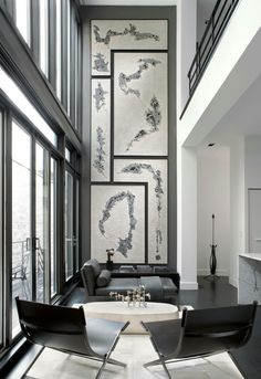 Modern Row House By Lukas Machnik Interior Design Double Storey Artwork Always Makes A Sensational Statement If There Is The Space