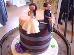 For those who want a vineyard type wedding...cake at my cousins wedding