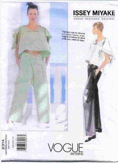 Issey Miyake Vogue Pattern  I have always adored Issey Miyake.