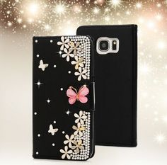 3d queen s7 edge diamond case Leather Wallet Case Cover For Samsung Galaxy S7…