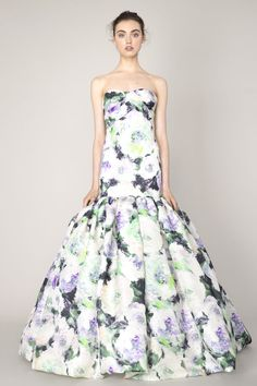 46 Beautiful Floral Inspired Wedding Dresses | http://www.deerpearlflowers.com/46-beautiful-floral-inspired-bridal-gowns/