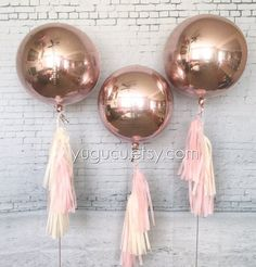 Metallic Rose Gold Round 16 Foil Balloons with tassel Rose Gold Decor Baby Shower Its a Girl Bachelorette Party Sweet Sixteen Round Balloons, Rose Gold Balloons, Foil Balloons, Metallic Balloons, 30th Balloons, Its A Girl Balloons, Rose Gold Theme, Rose Gold Decor, Sweet 16 Birthday