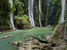 Waterfalls cascade into a picture-perfect pool in Laguna, a province on Luzon Island in the Philippines. Luzon is the country's largest island—and the fourth most populous island in the world. Photograph by Per-Andre Hoffmann, Aurora, January 14, 2015