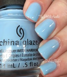 China Glaze Spring 2016 House of Colour Collection SwatchesDon't Be Shallow is a sky blue creme.This felt like a more jelly formula to me, it was sheer but buildable and dried shiny. I used 3 coats for the photos below.