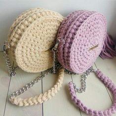 De Croche De Croche barbante De Croche com grafico De Croche de mao De Croche festa - Bolsa De Crochê Free Crochet Bag, Love Crochet, Knit Crochet, Crotchet Bags, Knitted Bags, Crochet Handbags, Crochet Purses, Crochet Designs, Crochet Patterns