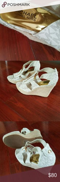 MK wedge shoes These are new never worn. Iv a habit of buying and not wearing. Needless to say they are in perfect condition. Michael Kors Shoes Wedges