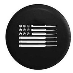American Flag AR15 Bullets Jeep Spare Tire Cover