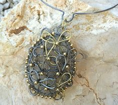 wire necklace by Joanne Klauber Jewelry  - from FingerDoodling with Brenda Schweder: Make Perfectly Matched Multiples for Easy Wire Jewelry Making - Jewelry Making Daily