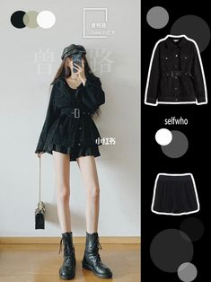 Korean Fashion Kpop Inspired Outfits, Korean Outfit Street Styles, Korean Girl Fashion, Kpop Fashion Outfits, Korean Street Fashion, Ulzzang Fashion, Edgy Outfits, Korean Outfits, Cute Casual Outfits