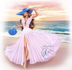 Beautiful Girl Drawing, Kawaii Disney, Rain Art, Fashion Wall Art, Digital Art Girl, Girls World, Pretty Art, Fashion Sketches, Girly Girl