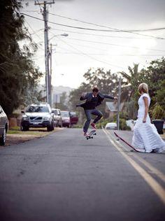 skateboarder // wedding shoot!
