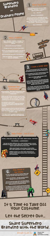 Superhero branding for ordinary people #infographic